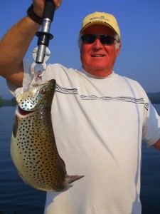 Chuch Keith of Lake Lanier with big Burton Brown