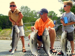 Brooks Family Catching Striped Bass on Capt. Mac's Buctail Jigs