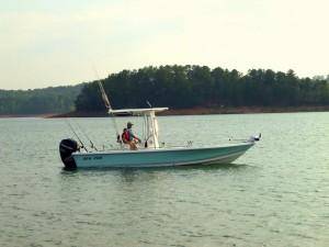 Capt Wes in Sea Pro 24ft Bay